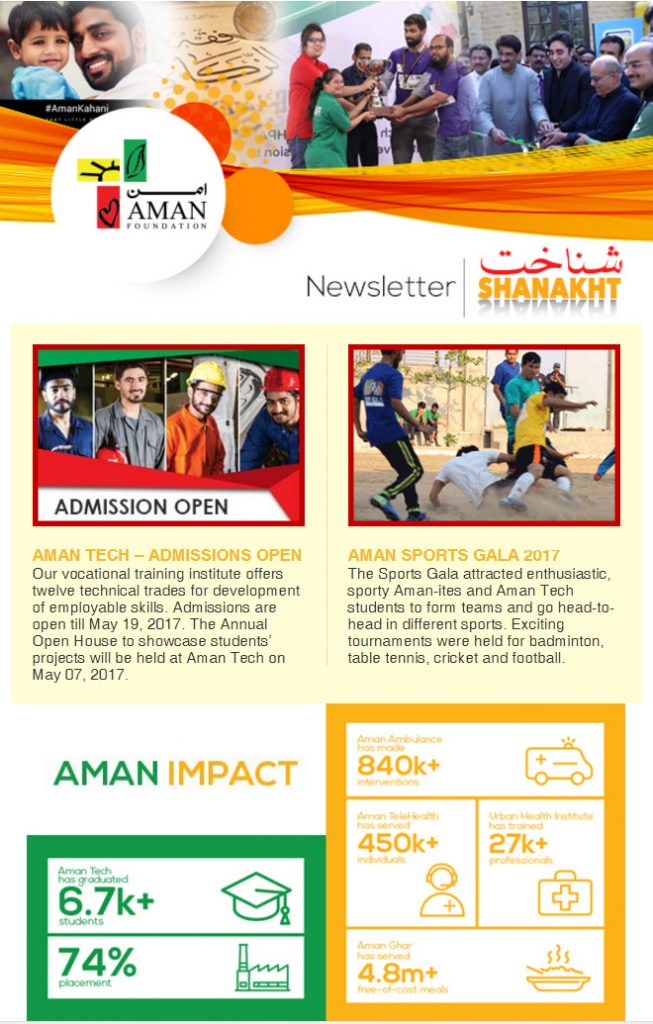 Shanakht Newsletter- April 2017