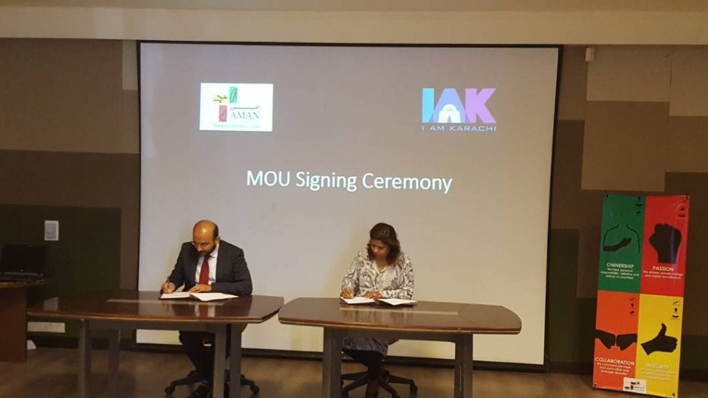 IAMKARACHI & The Aman Foundation Join Forces